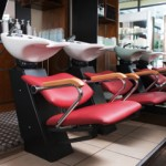 commercial Plumging done at hair washing stations at a Rockland county hair salon